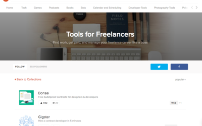 Tools for Freelancers (via Product Hunt)